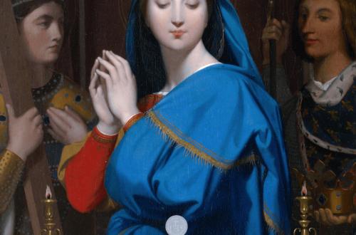Jean-Auguste Dominique Ingres. La Sainte Vierge adorant l'hostie, 1854.